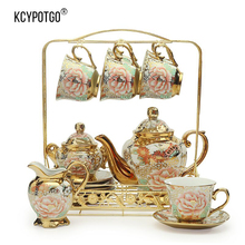 European Ceramic coffee cup  & Saucer Sets or tea set (15PCS/set) High-grade gift box packaging
