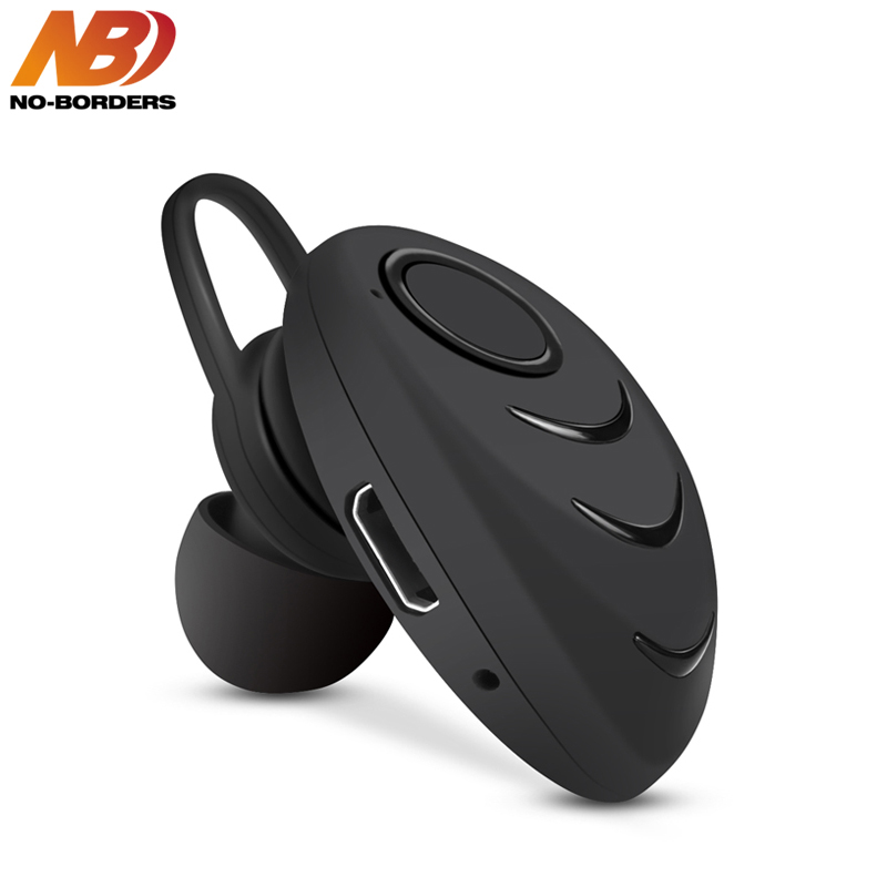 NO-BORDERS Beetle Wireless Bluetooth Headset Mono Small Mini In-ear Music Earphone Sport Invisible Hands-free Headphone with Mic