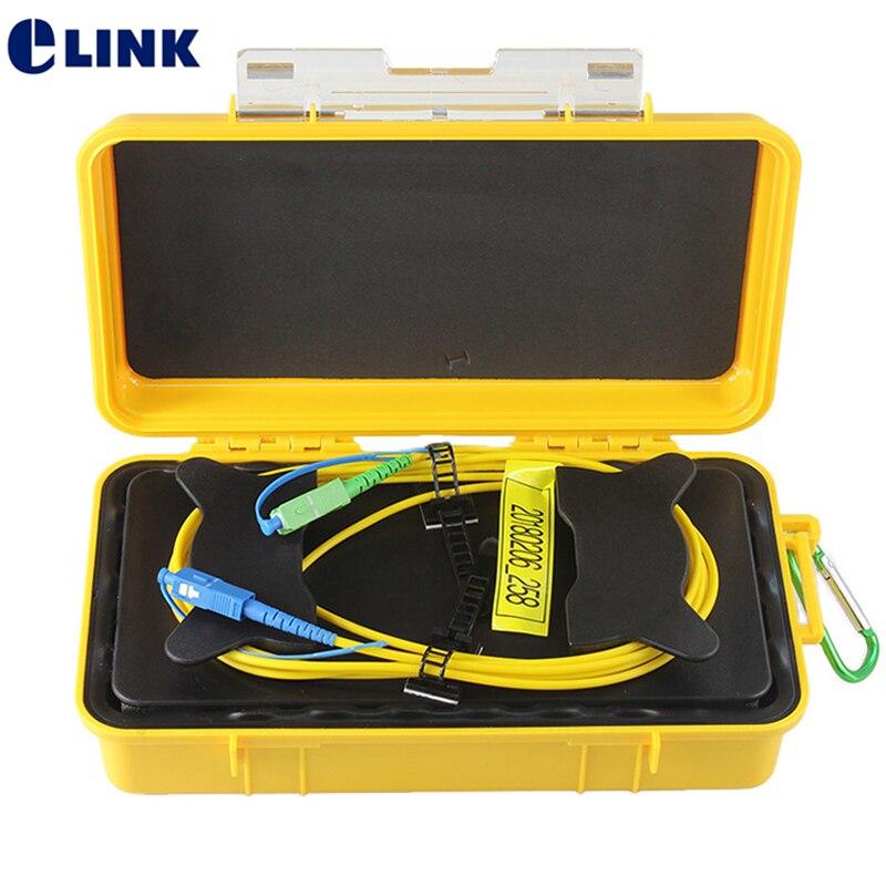 1KM OTDR Launch Cable Box 1000m fiber optic Singlemode SM SX SC FC UPC APC 1310