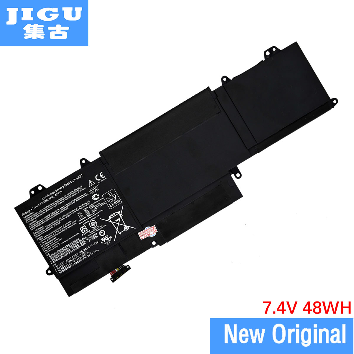 все цены на JIGU C23-UX32 Original laptop Battery For Asus for VivoBook U38N U38K U38DT for Zenbook UX32 UX32VD UX32LA 7.4V 48WH онлайн