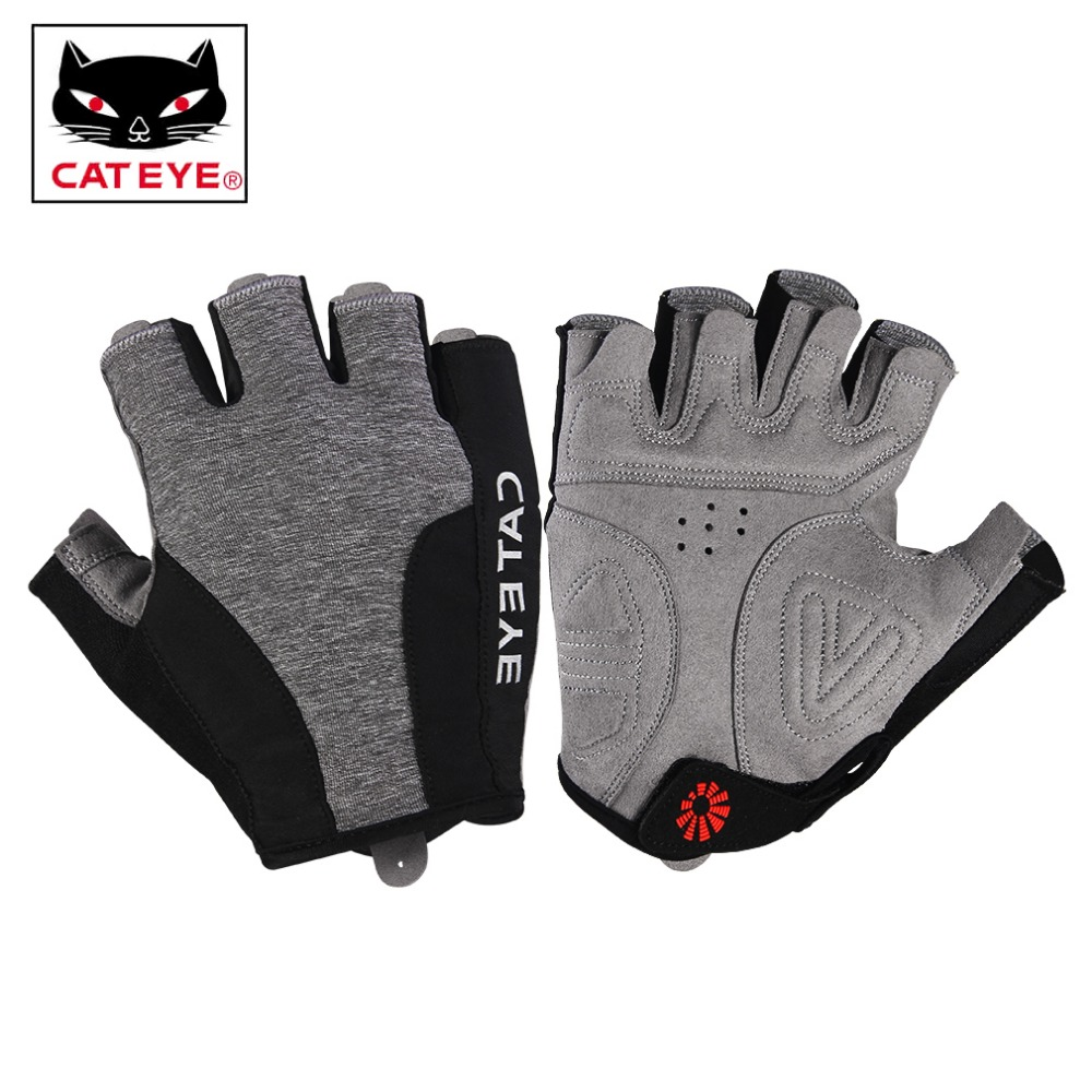 CATEYE Cycling Half Finger Gloves Breathable Shockproof Non-slip For Men Women's Sport MTB Bicycle Bike Equipments Gloves 4 Size racmmer cycling gloves guantes ciclismo non slip breathable mens