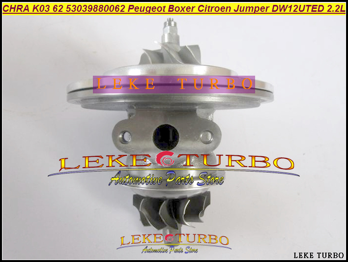 Turbo Cartridge CHRA Core K03 53039880062 9643350480 0375H Turbocharger For Peugeot Boxer 2 For Citroen Jumper DW12UTED 2.2L HDI turbocharger garrett turbo chra core gt2052v 710415 710415 0003s 7781436 7780199d 93171646 860049 for opel omega b 2 5 dti 110kw