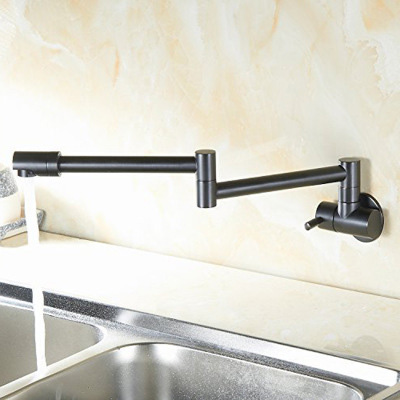 Classic Black Kitchen Faucet Brass Polished Bathroom Sink Faucets Single Handle Hole Mixer Water Tap Wall Mount Torneira Cozinha china sanitary ware chrome wall mount thermostatic water tap water saver thermostatic shower faucet