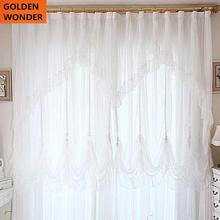 Quality Curtain Finished Products Lace White Customize For Living Room Bed Blind Home Textile Decor