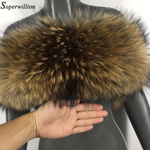 Natural Fur 2019 New Winter 100% Raccoon Fur Real Collar &am