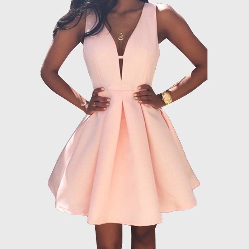 Розовое платье для вечеринок