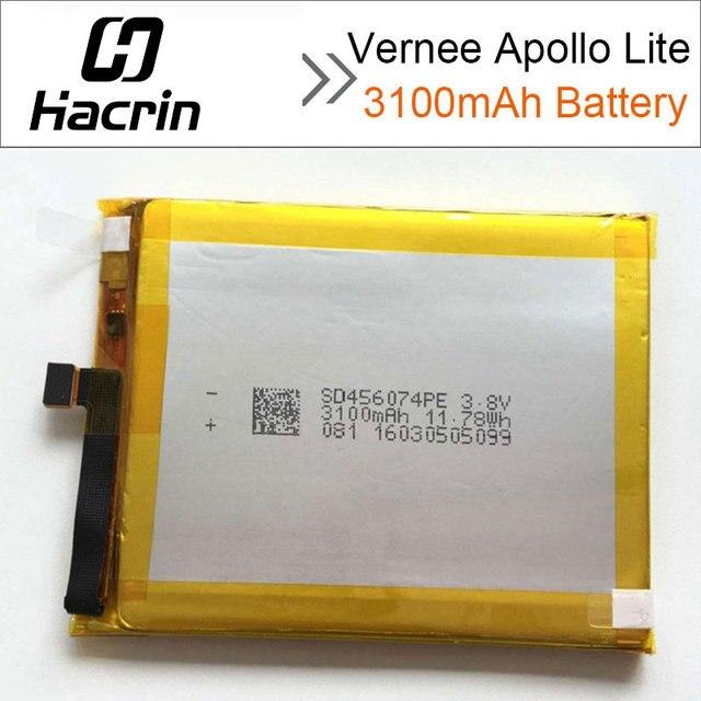 For Vernee Apollo Lite Battery 100% New High Quality Replacement 3100mAh Li-ion Battery for Vernee Apollo Lite Smartphone