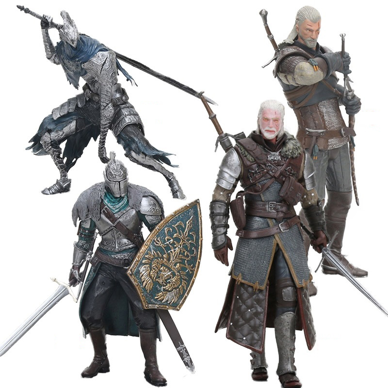 Dark Souls II Witcher 3 Wild Hunt Figure Shani Triss Eredin Geralt Of Rivia Eredin PVC Action Figure Collectible Model Doll Toys
