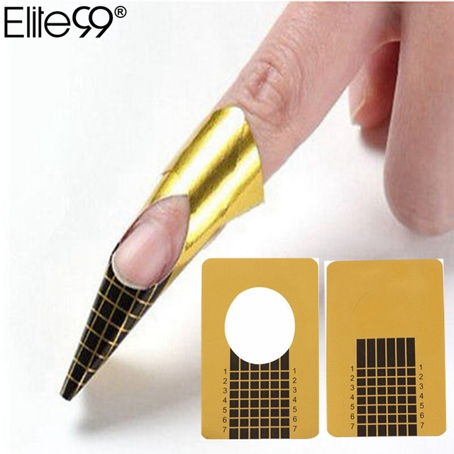 Elite99 20Pcs Nail Forms Tips Acrylic Gel Extension Sticker Nail Art ...