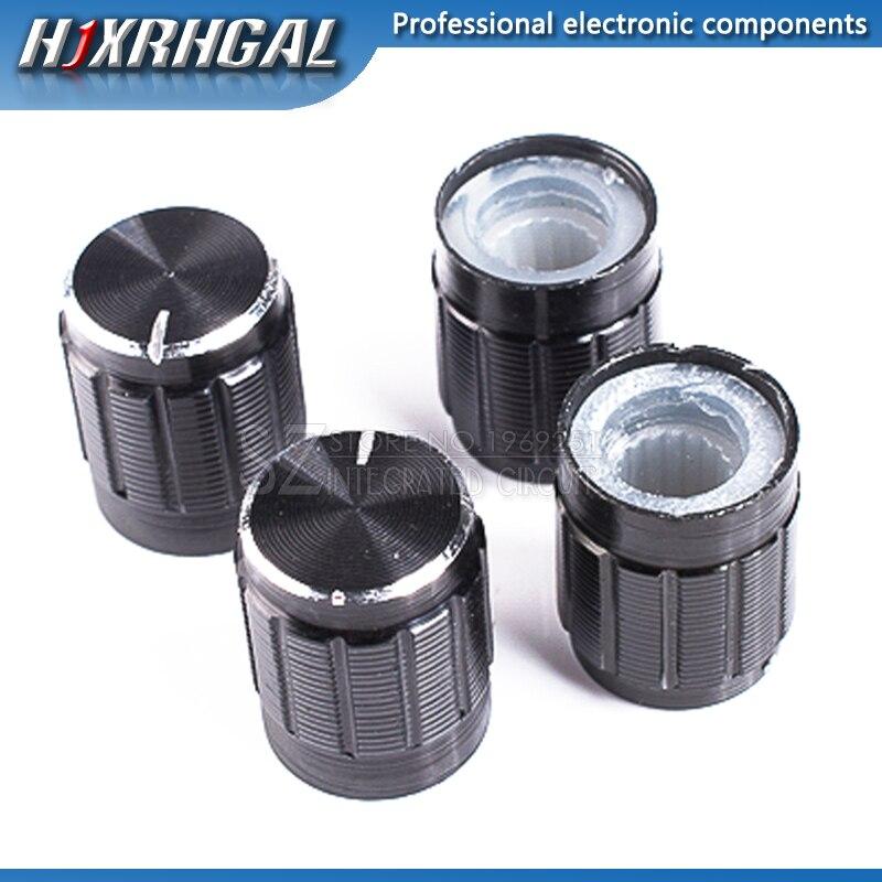 1pcs 13*17mm Aluminum Alloy Potentiometer 13*17 Knob Rotation Switch Volume Control Knob Black Hjxrhgal