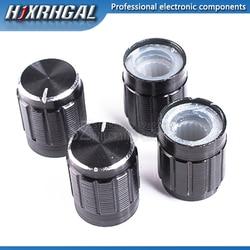 Potenciómetro de aleación de aluminio, 13x17mm, interruptor de rotación de perilla 13x17, perilla de control de volumen, negro, hjxrhgal, 1 Uds.