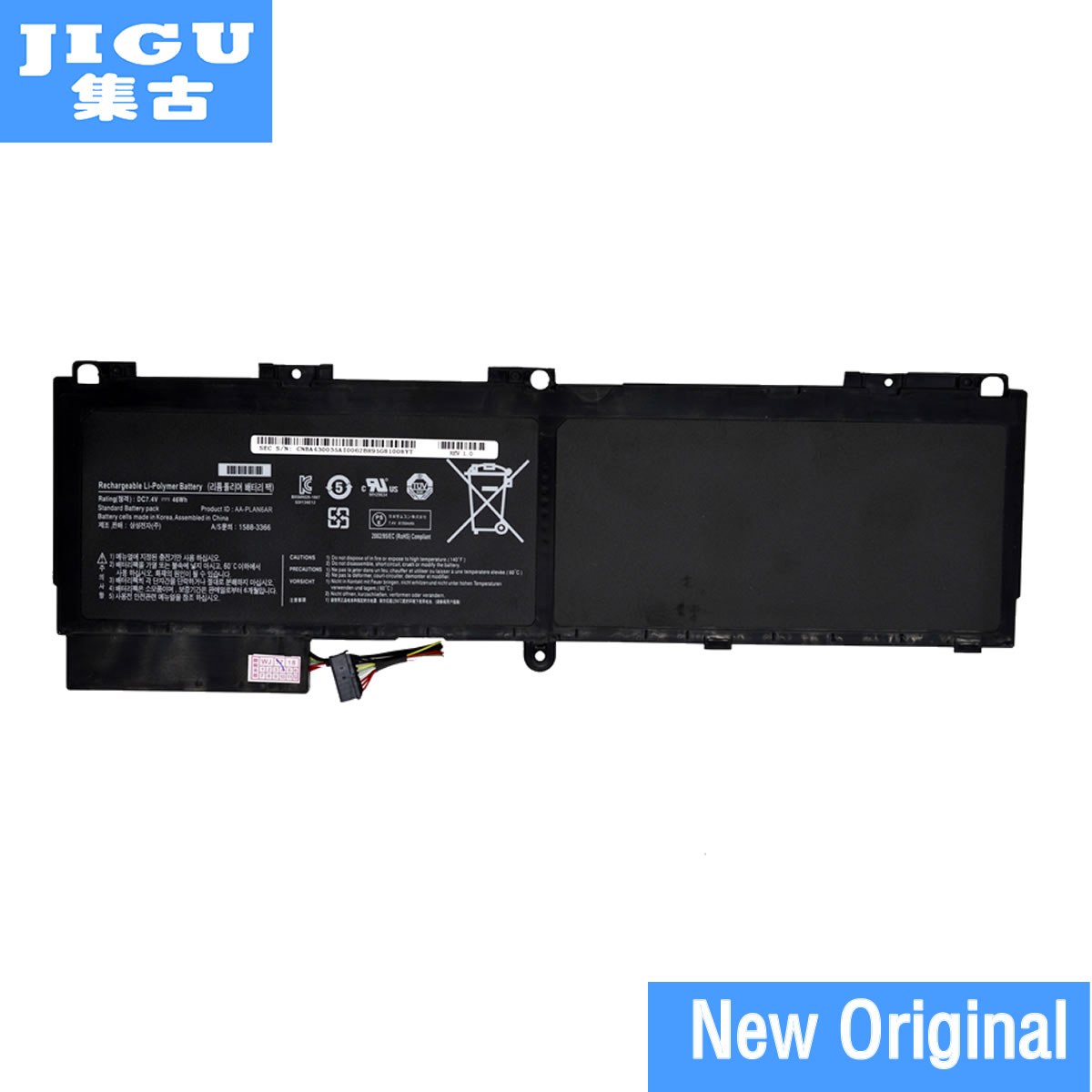 JIGU AA-PLAN6AR Original Laptop Battery For SAMSUNG 900X1 900X1B-A01 900X1BA01 900X3 Series 900X3AA01 new 7 4v 8400mah 62wh aa pbxn8ar battery for samsung np900x4 900x4b a01de 900x4c a01 900x4b a02us free shipping