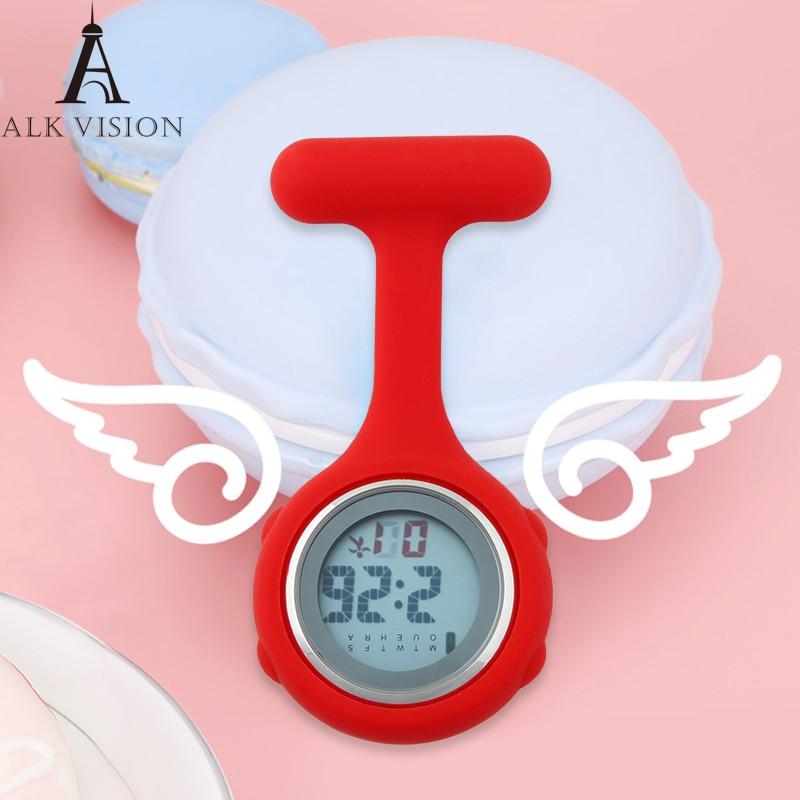 Nurse Watch Digital Silicone New 2018 FOB Pocket Watches Doctor Brooch Lapel Medical Hospital Clock Gift For Nursing ALK