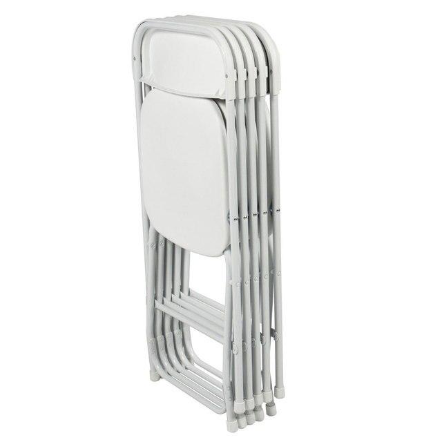 Sedie In Plastica Pieghevoli.5 Pz Portatile Sedie Pieghevoli Di Plastica Bianco Sala Da Pranzo