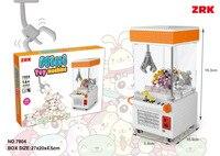 ZRK קטן צעצוע מכונת פלסטיק אבני בניין מיני חנות אדריכלות חינוכי צעצועי Brinquedos לילדים חג המולד מתנות 7804