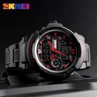 New SKMEI Fashion Men Watches Sport 2 Time Back Light Quartz Wristwatches Chronograph Waterproof Watches Clock Men Watch Wrist