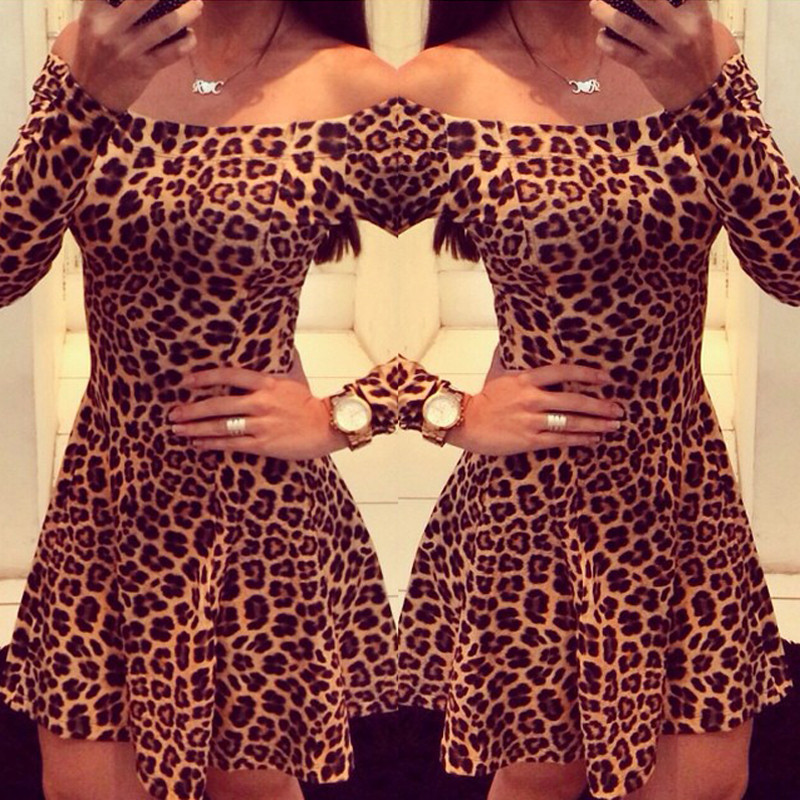 Leopard Print Cocktail Dress Promotion-Shop for Promotional ...