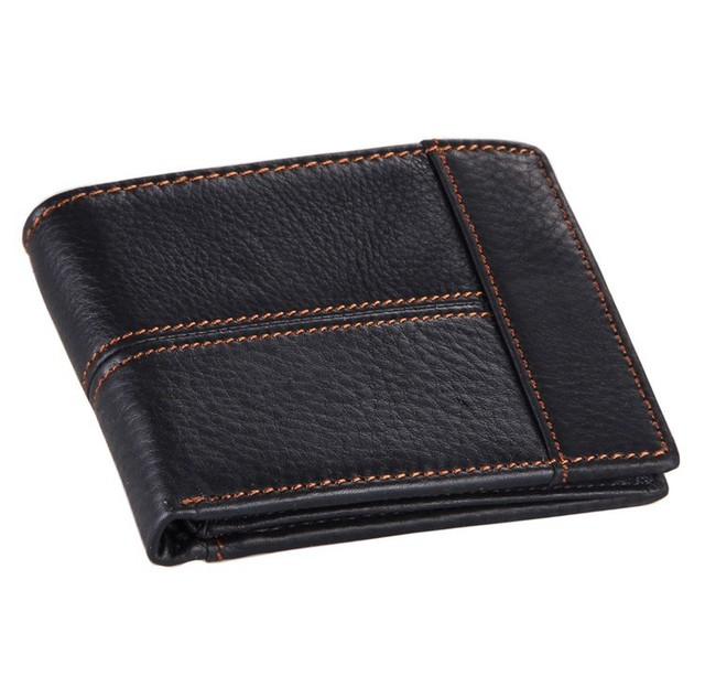 cow genuine leather men wallet