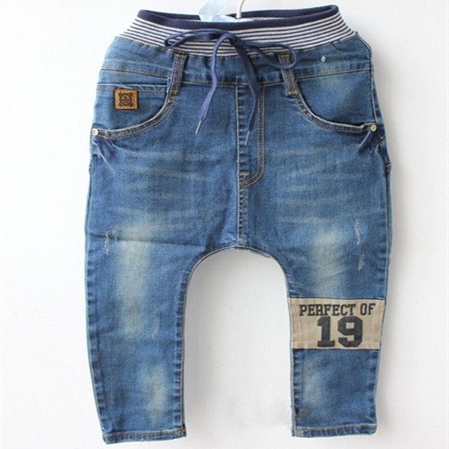 5e40f7278 2017 Autumn best quality children clothing jeans kids harem pants baby boys  girls big pp pant 2-7 years