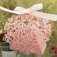 20pcs Set Romantic Wedding Favors Decor Butterfly DIY Candy Cookie Gift Boxes Wedding Party Candy Box