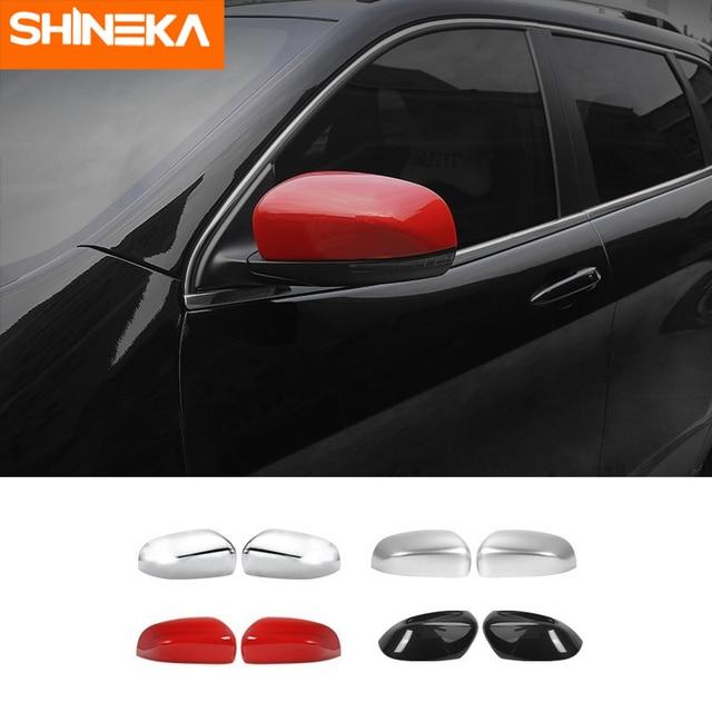 مرآة الرؤية الخلفية للسيارة جيب شيروكي, أغطية مرآة SHINEKA للسيارات جيب شيروكي ABS مرآة الرؤية الخلفية اكسسوارات الديكور ل جيب شيروكي 2014 حتى