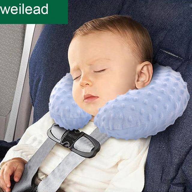 Kids Car Pillow Inflation Headrest For Baby Seat Travel Pillows Newborn U Shape Infant Safety Bedding