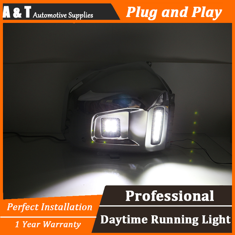 A&T car styling For Toyota Tundra LED DRL For Tundra led fog lamps led daytime running lights High brightness guide LED DRL fully tested la a994p free shipping laptop motherboard for hp 15 r notebook pc compare before order