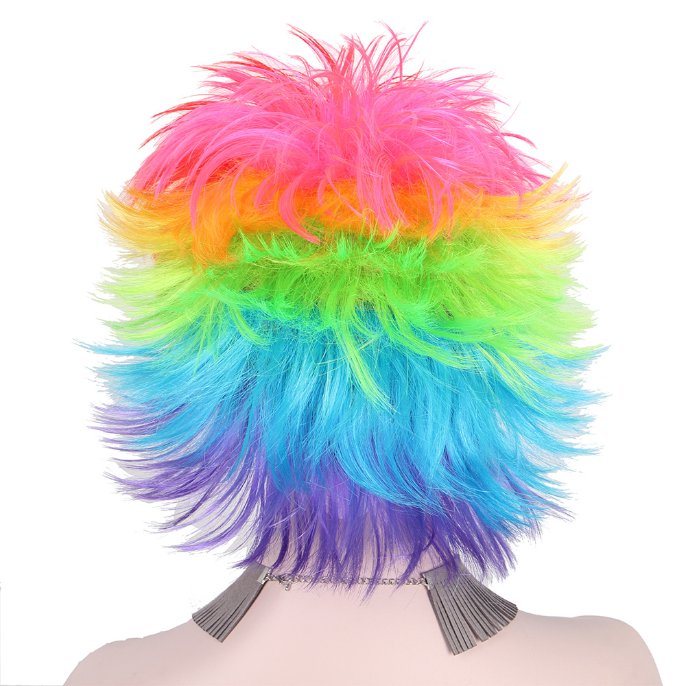 Rainbow Πολύχρωμοι Big Ανεμιστήρες Κόμμα - Συνθετικά μαλλιά - Φωτογραφία 6