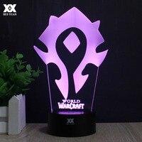 World Of Warcraft 3D Đèn Tribal Dấu Hiệu LED Điều Khiển Từ Xa USB Ánh Sáng ban đêm Đèn Bàn Trang Trí Món Quà của Con HUI NHÂN DÂN TỆ thương hiệu
