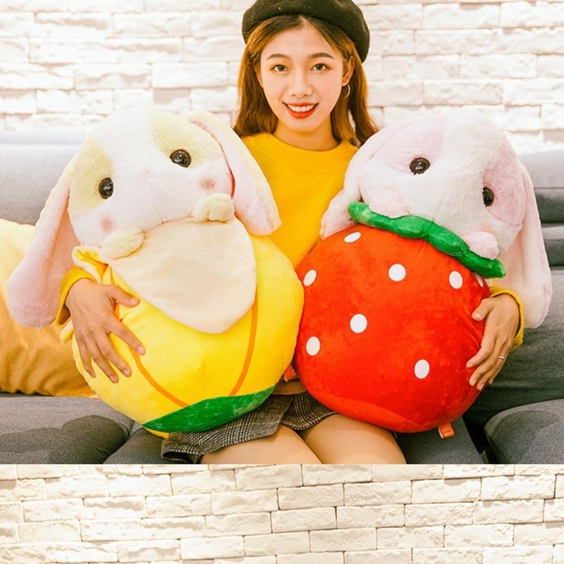 1 Pc 50 Cm Kawaii Fruit Konijn Pluche Speelgoed Gevulde Zachte Mooie Dier Kussen Leuke Valentijnsdag Geschenk Voor Meisjes Kids Kinderen Verjaardag