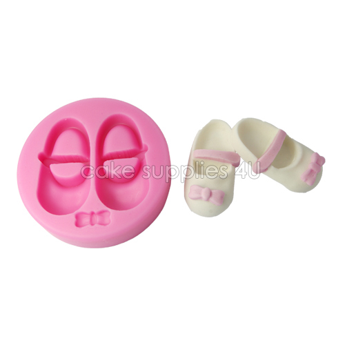 20af047115 Baby girl shoes design Silicone embossing cupcake mold fondant decorating  mold newest cake decoration chocolate moulding tools-in Cake Molds from  Home ...
