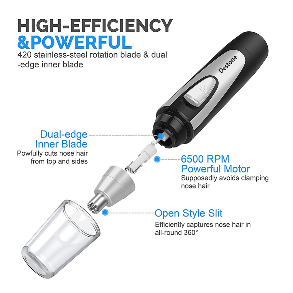 Destone Tricare T3 Trimmer for Nose Hair Trimmer Professional Nose Ear Hair Trimmer for Men Women with Vacuum Cleaning IPX7 2018 in Personal Care Appliance Accessories from Home Appliances