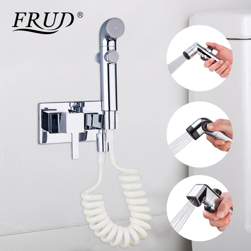 Bathroom Fixtures Frud Bidets Bidet Toilet Sprayer Washer Mixer Taps Square Handheld Muslim Shower Toilet Hygienic Shower Bidet Faucets High Quality And Low Overhead