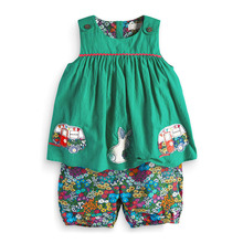 Little maven 1-6Years Bus Embroidery Two-Piece Toddler Girl Clothing Set Children's Boutique Outfits Summer Kit For Girls Kids недорого