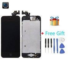 Ipartsbuy 4 en 1 para iphone 5 (Cámara frontal + LCD + Pantalla LCD + Touch Pad) el Montaje del digitizador