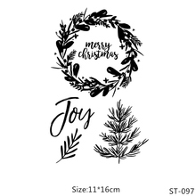 ZhuoAng Christmas wreath  Transparent and Clear Stamp DIY Scrapbooking Album Card Making Decoration