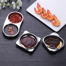 Новые приправа из нержавеющей стали аксессуары для столовых приборов маленький соус для стейка приправа для блюд тарелка для соевого соуса боковая тарелка горчичная тарелка