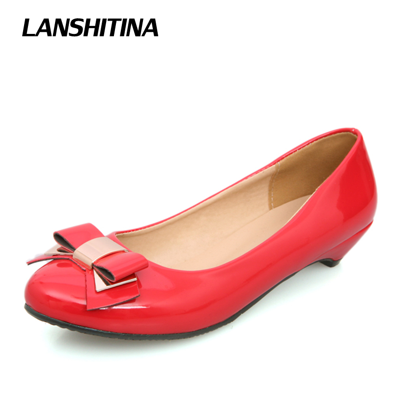 Lady Flat Shoes Patent Leather Bow Shoes Mothers Round Toe Loafers Women Spring Summer Fashion Chaussure Femme G775