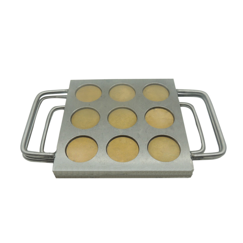 9 holes slots 37mm Manual Pressed Mold match 37mm aluminum eyeshadow pan, eyeshadow powder press iron mold can customized. купить недорого в Москве