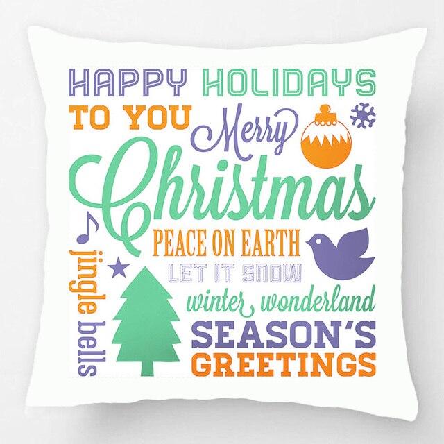 winter colors christmas subway art throw pillow case decorative