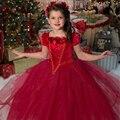 Muchachas de la navidad Vestido de Princesa Costume Wth Chal Vestido de Niña En Invierno