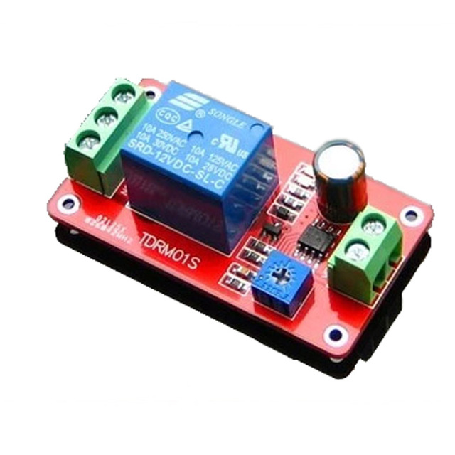 Time Delay Relay Module Electrical Switch OnOff 5V 12V Robot diy rc ...