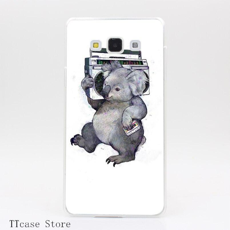 1975CA Koala Transparent Hard Cover Case for Galaxy A3 A5 A7 A8 Note 2 3 4 5 J5 J7 Grand 2 & Prime