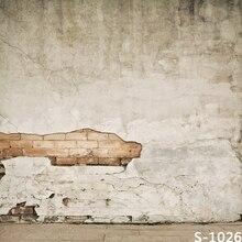 10x10FT винтажная домашняя светло-серая кирпичная стена трещины кракле на заказ фотофоны студийные фоны Виниловые 8x8 8x15