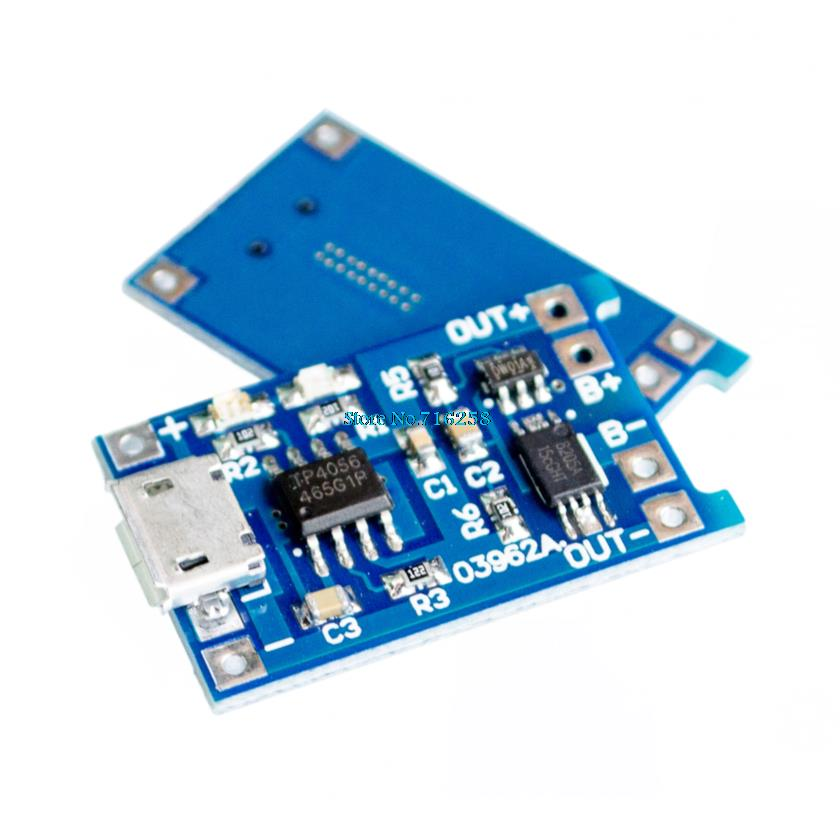 10pcs/lot 5V Micro USB 1A 18650 Lithium Battery Charging Board With Protection Charger Module
