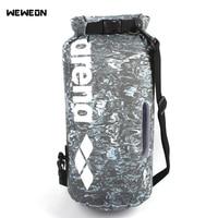10L PVC Waterproof Dry Bag Pack Sack Waterproof Swimming Bags Mesh Storage Dry Sack Bag For River trekking Rafting Kit Pack