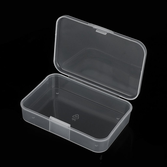 1 PCS New Small Plastic Transparent With Lid Collection Container Case Storage Box
