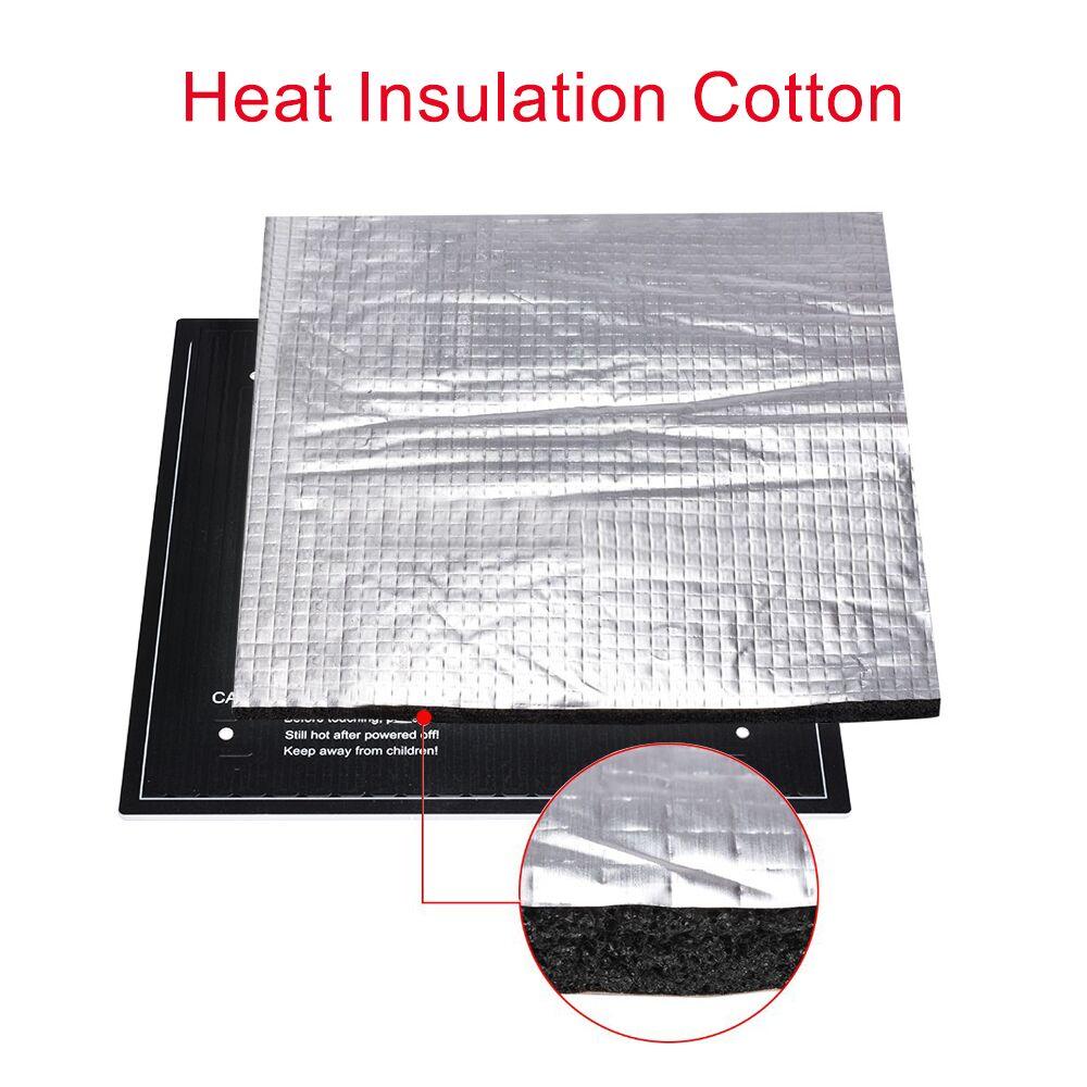 3D Printer Parts Heat Insulation Cotton 200/220/300MM Heatbed Sticker Foil Self-adhesive Insulation Cotton For Heated Bed Plate3D Printer Parts Heat Insulation Cotton 200/220/300MM Heatbed Sticker Foil Self-adhesive Insulation Cotton For Heated Bed Plate
