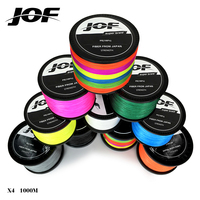 JOF 1000m 40LB 100LB PE Multifilament 4 Strands Braid Line Ocean Fishing Super Strong Carp Colorful