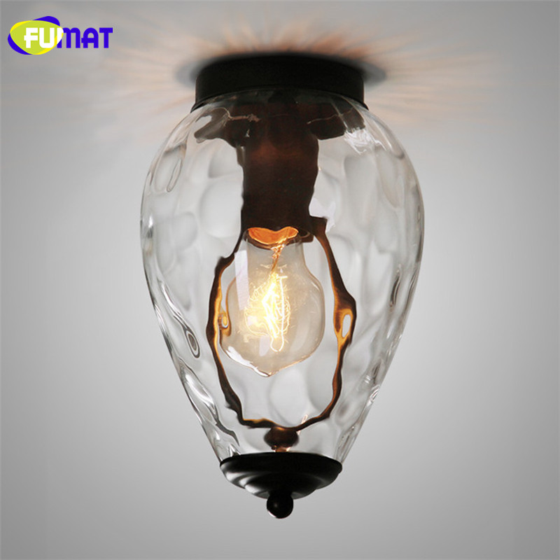 FUMAT Loft Ceiling Light Designer Ceiling Lamp Simple Vintage Aisle Balcony Light Fixture European Glass Pineapple Ceiling Light fumat stained glass ceiling lamp european church corridor magnolia etched glass indoor light fixtures for balcony front porch